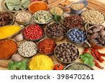 colorful  aromatic spices in... | Shutterstock . vector #398470261