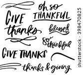 give thanks quotes.... | Shutterstock .eps vector #398470825
