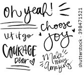 choose joy quote. courage dear... | Shutterstock .eps vector #398471521