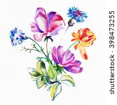 watercolor painting. album ... | Shutterstock . vector #398473255