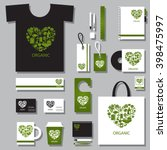 corporate identity template set.... | Shutterstock .eps vector #398475997