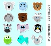 set of stickers. set of cute... | Shutterstock .eps vector #398481379
