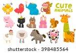 cute cartoon farm and wild...   Shutterstock .eps vector #398485564
