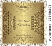 wedding invitation. invitation... | Shutterstock .eps vector #398486875