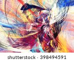 abstract beautiful multicolor... | Shutterstock . vector #398494591