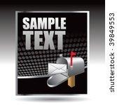 mailbox on black halftone... | Shutterstock .eps vector #39849553