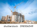 high rise crane and under... | Shutterstock . vector #398506549