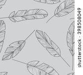 feather seamless pattern.... | Shutterstock .eps vector #398508049