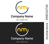 nm business logo icon design...   Shutterstock .eps vector #398510734