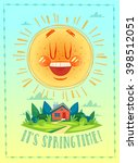 it's springtime. poster   card  ... | Shutterstock .eps vector #398512051