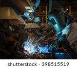 industrial steel worker speeds... | Shutterstock . vector #398515519