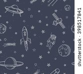 hand drawn astronomy doodle... | Shutterstock .eps vector #398517841