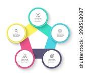 pentagon infographic. chart ... | Shutterstock .eps vector #398518987