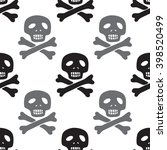 seamless pirate pattern with... | Shutterstock .eps vector #398520499