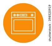 oven linear icon. | Shutterstock . vector #398520919