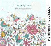 vector card with flowers and...   Shutterstock .eps vector #398522089