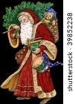 vintage santa | Shutterstock . vector #39852238