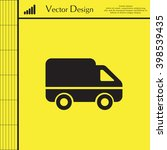 delivery truck icon. vector...
