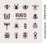 insects collection kit. bugs... | Shutterstock .eps vector #398549185