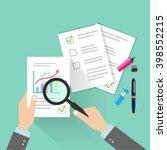 businessman hands holding... | Shutterstock .eps vector #398552215