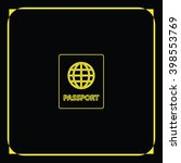 passport icon. | Shutterstock . vector #398553769