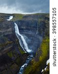 haifoss waterfall on iceland ... | Shutterstock . vector #398557105