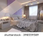 3d illustration of bedroom... | Shutterstock . vector #398559589