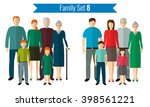 family icons set. traditional... | Shutterstock .eps vector #398561221