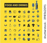 food and drinks icons  | Shutterstock .eps vector #398562091
