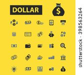 dollar icons  | Shutterstock .eps vector #398563264