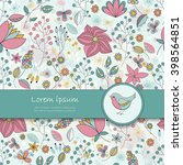vector card with floral pattern ... | Shutterstock .eps vector #398564851