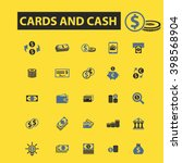 cards and cash icons  | Shutterstock .eps vector #398568904