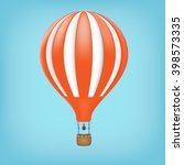 hot air balloon in the sky.... | Shutterstock .eps vector #398573335