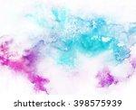 watercolor wash background.... | Shutterstock . vector #398575939