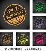 twenty four seven online... | Shutterstock .eps vector #398585269