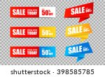 set of sale banners and... | Shutterstock .eps vector #398585785