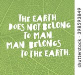 earth day quotes inspirational. ... | Shutterstock .eps vector #398593849