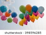 balloons in sky | Shutterstock . vector #398596285
