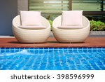 relaxing rattan chairs with... | Shutterstock . vector #398596999