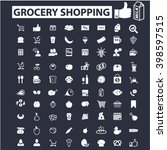 grocery shopping icons  | Shutterstock .eps vector #398597515