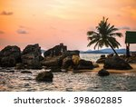 Beach At Sunset At Phu Quoc...