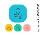 vector illustration of user buy ...