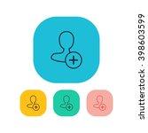 vector illustration of add user ...
