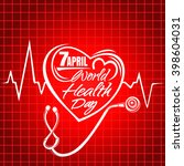 World Health Day Lettering....