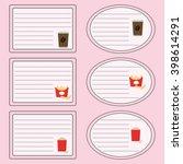 vector sticker for notebook...   Shutterstock .eps vector #398614291
