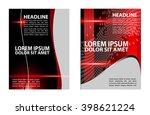 design for business flyer... | Shutterstock .eps vector #398621224