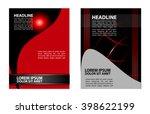 abstract vector modern flyer... | Shutterstock .eps vector #398622199