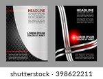 flyer  brochure or magazine... | Shutterstock .eps vector #398622211