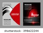 brochure flyer design  | Shutterstock .eps vector #398622244