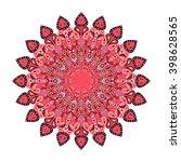 round mandala. arabic  indian ... | Shutterstock .eps vector #398628565